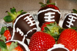 Game Day Meal: Super Bowl XLVII Edition – Pig(skin) Candy & Football Strawberries