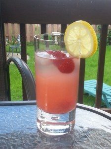 A refreshing raspberry, maple, and gin cocktail for Canada Day