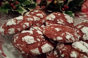 12 Days of Christmas Treats: Red Velvet Crackle Cookies
